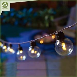 20 LED G40 Glass Bulb Solar String Light Outdoor