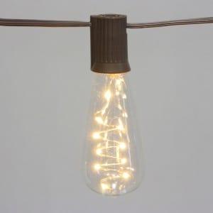 10 Count ST40 Edison Bulb Solar Vintage String Light