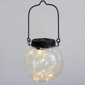 Glass Solar Lantern Fairy Lights Hanging Decor