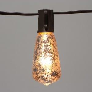 ST40 Edison Bulb Decor with Foil Silver Bulbs