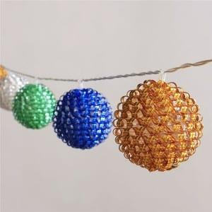 Plastic String Lights&Plastic Ball Lights KF02269BO