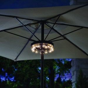Patio Umbrella Light Battery Powered LED Umbrella Pole Light | ZHONGXIN