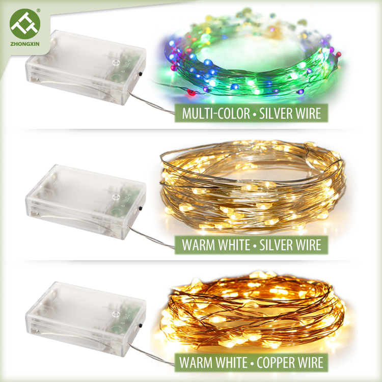 3PK Colorful Copper Wire String Light Battery Operated Featured Image