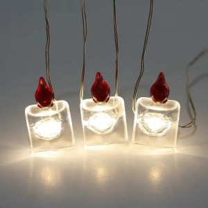 25 LED Battery Operated Copper Wire Christmas String Lights