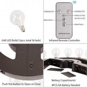 LED Umbrella Lights Battery Operated with Remote Control | ZHONGXIN
