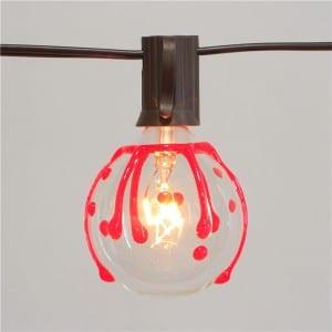10 Bulb Lights String Halloween Blood Drop Style