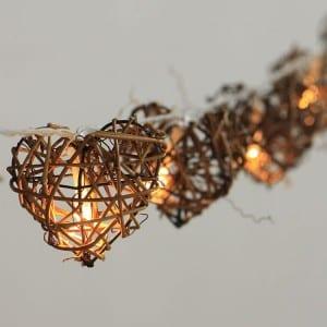 Natural Material Covers String Lights KF02344BO